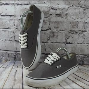 Vans Mens Off The Wall Shoes Gray Lace Up Sneakers Skater